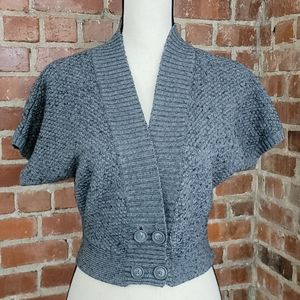 Heritage 1981 gray short sleeve fitted cardigan M